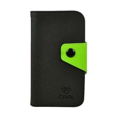 OEM Rainbow Flip Cover Casing for ZTE Q7 or Q7 C S6 Lux - Hitam