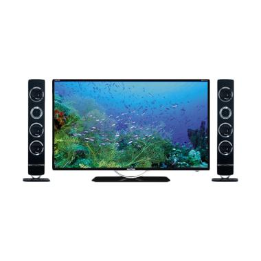 Polytron PLD32T100 Tower CinemaX TV LED - Hitam [32 Inch]