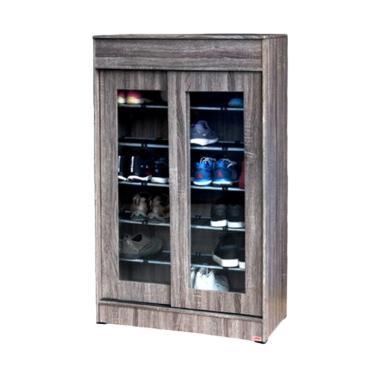 MD Furniture Sliding Door Rak Sepatu - Sonoma Oak [2 Pintu]