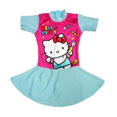 Nice Motif Hello Kitty Polka Baju Renang Rok Anak - Mint