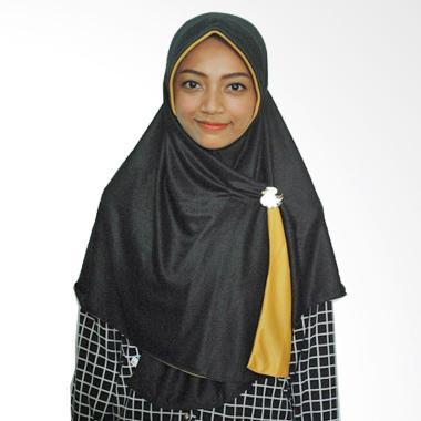 Pricilla Hijab instan Bolak-Balik Dua Warna Black Gold