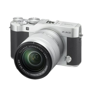 Fujifilm X-A3 Kamera Mirrorless with 16-50mm Lens - Silver