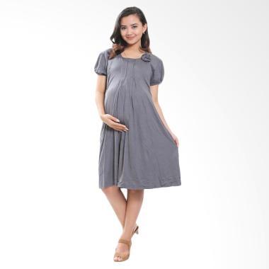 Mama Hamil DRO 202 Rose Baju Hamil Dress Pesta - Abu