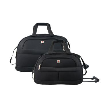 Polo Classic JS1002-35 Travel Bag Trolley - Black [18 & 21 inch]