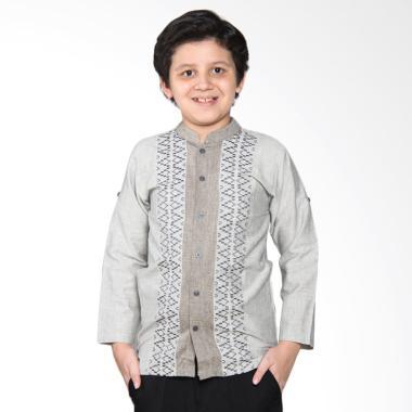 Versail Kids Enfant Sm 7032 Kombinasi Baju Koko Anak - Grey