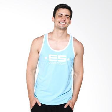 Boostwear Muscle Back Tank Top Pria - Biru Muda