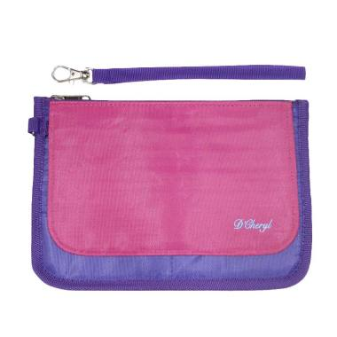 D'Cheryl Double Card Holder 40 Pocket DCH-DC Dompet - Pink