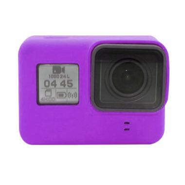 GoPro Hero 5 / Hero 6 Silicone Case with Lens Cap Cover - Ungu