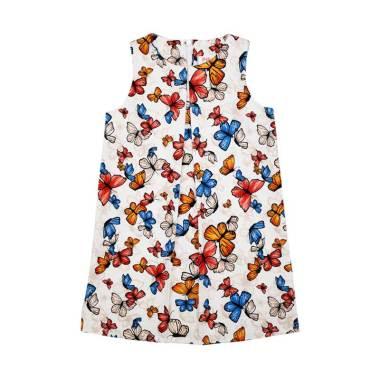 Piega Kidswear Butterfly Dress Anak - White