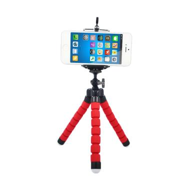 Universal Spider Flexible Mini Tripod - Merah