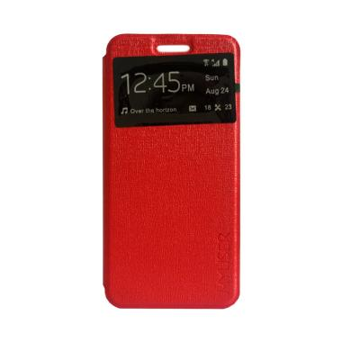 MyUser Flip Cover Casing for Android One X - Merah