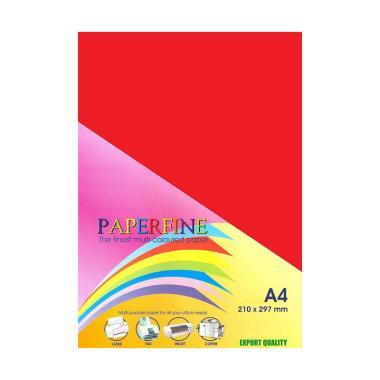 Paperfine Kertas HVS A4 - Merah [500 Lembar]