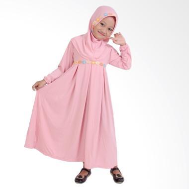 Baju Yuli Gamis Baju Muslim Anak Perempuan - Peach