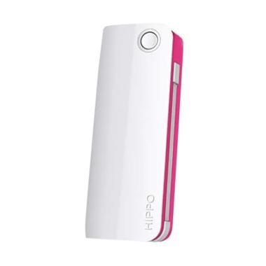 Hippo Snow White 2 Powerbank - Putih List Pink [6000 mAh]