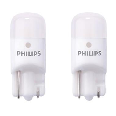 Philips T10 Vision LED Bohlam Lampu Senja - Putih [6000K]