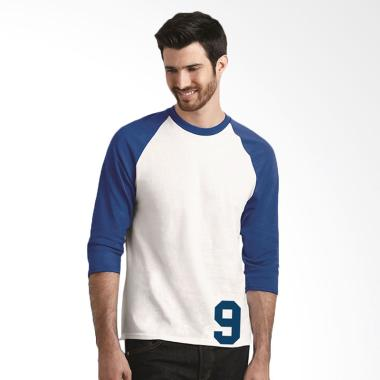Fantasia T-Shirt 3/4 Lengan Panjang 9 Atasan Pria - White