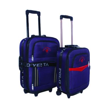 Polo Vesta Trolley Bag Set Tas Koper - Ungu [16 dan 20 Inch]
