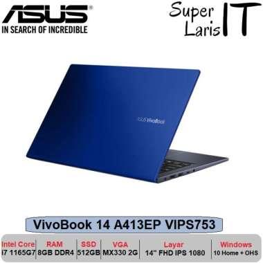 harga Asus Vivobook A413EP i7 1165G7 8GB 512GB MX330 2GB 14inch W10 OHS Biru Blibli.com