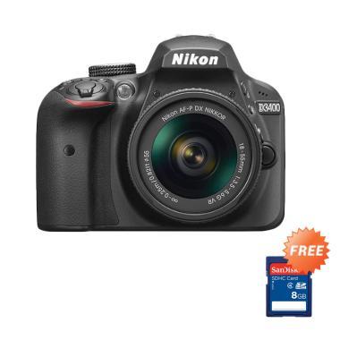 Nikon D3400 Kit 18-55mm AF-P VR Kam ... ory Card 16 GB fujishopid
