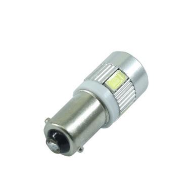 JMS BA9S H6W T4W 6 SMD 5630 Lampu LED Interior - White [12 V/1 Pair/2 Pcs]