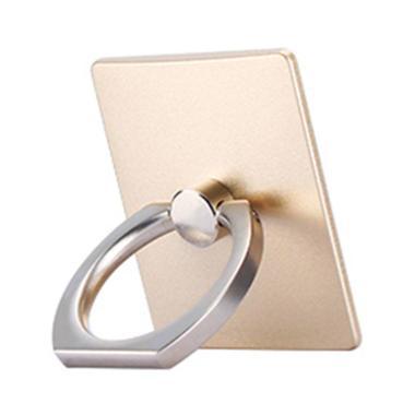 iRing Universal Mobile Phone Ring Stand - Gold + Free Hanging Ring