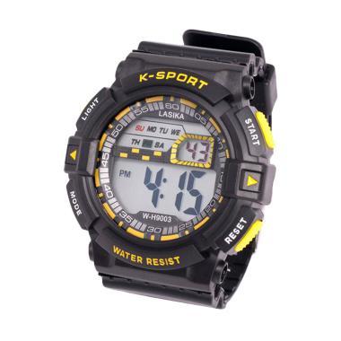 Lasika W-H 9003 Sport Digital Unisex Jam Tangan Pria - Yellow