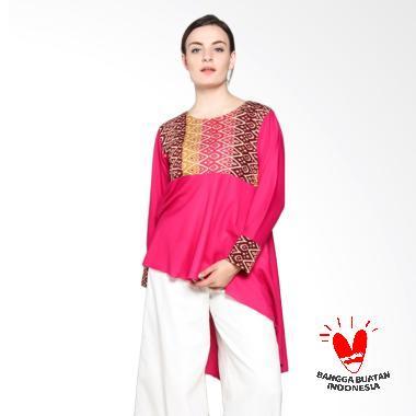 SIMPLE LADIES SL Top Ima Batik Blouse - Fuschia