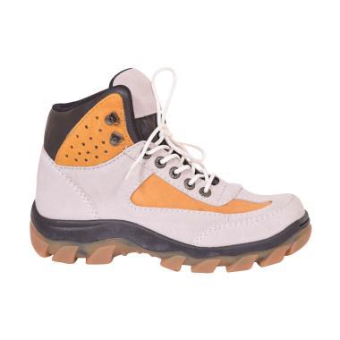 Azcost Trekking Safety Sepatu Boots Pria - Cream