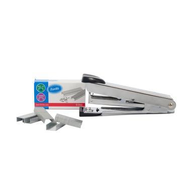 Bantex #9331 00 Mini Stapler - Chrome [Including Staples no10]
