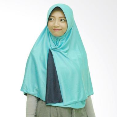 Pricilla Hijab Instan Bolak-Balik Dua Warna - Ocean Blue