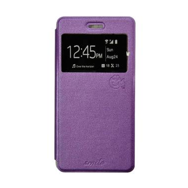 best service 5118b 76304 SMILE Flip Cover Casing for Oppo Neo5 A31 or Neo5S - Ungu