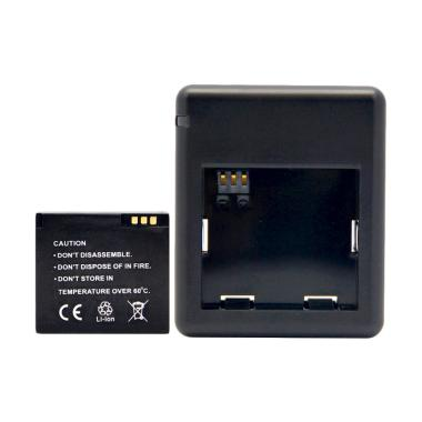 Universal Dual Battery Charger Xiaomi Yi dan 1 Baterai - Hitam
