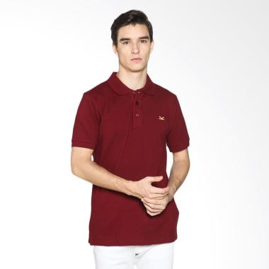 Carvil Men 12.RED.MRN.77/ RED-MRN Polo Shirt Pria