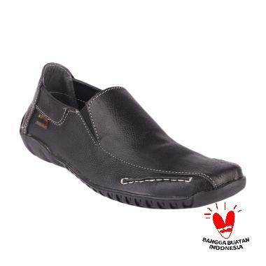 Blackkelly Slip On Carnation Kulit LDE 043 Sepatu Pria - Hitam