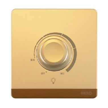 Nero Decora Q7L63-G Saklar Listrik - Gold [1 Gang Light Dimmer]