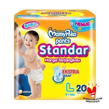 Mamy Poko Popok Bayi Pants Standar  ...  6 BAG X [Size L/ 20 pcs]