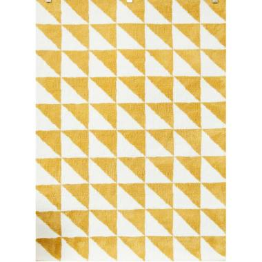 Vision Pop Triangle Karpet - Mustard & White [110 x 160 cm]