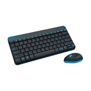 Logitech MK240 Wireless Combo Keyboard and Mouse - Hitam