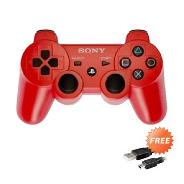 Sony PlayStation 3 Stick Controller - Red + Free USB