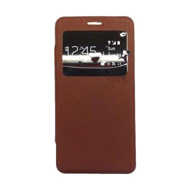 Ume Flip Cover Casing for Oppo F1 Selfie Expert A35 - Coklat