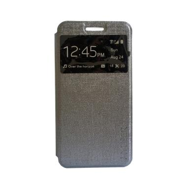 Myuser Flip Cover Casing for Android One X - Abu abu