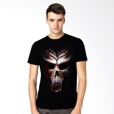 T-Shirt Glory Kaos 3D Dragon Vampire - Hitam