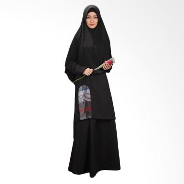 NWC Casual Lavenia 01 casual Muslim Dress- Hitam