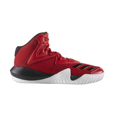 adidas Men Basketball NBA Crazy Team 2017 Red Sepatu Basket (B49400)