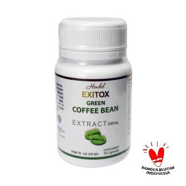 PROMO ( 3 BOTOL ) Exitox Green Coff ... angsing Herbal Ampuh Bpom
