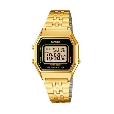 CASIO Digital Vintage LA680WGA-1A Jam Tangan Wanita - Gold Black
