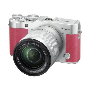 Fujifilm X-A3 Kit Lens 16-50mm Kamera Mirrorless - Pink