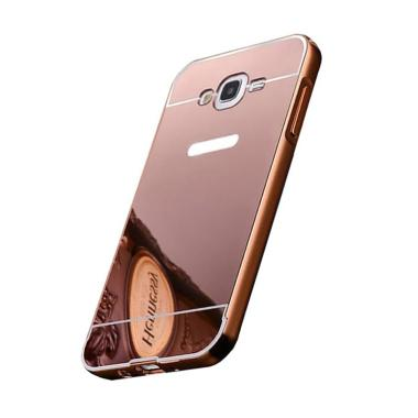 OEM Bumper Mirror Sliding Casing for Samsung Galaxy A8 - Rose Gold