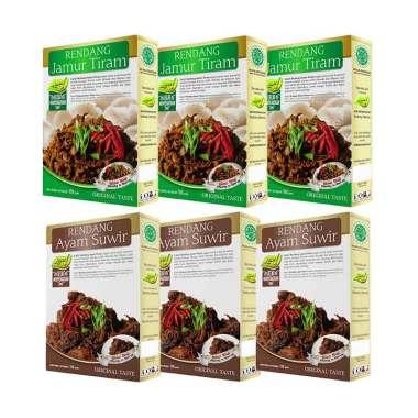 Laziz! Food 3 Rendang Ayam Suwir &  ...  Tiram Set Makanan Instan