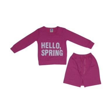Premium Pastel Hello Spring Setelan Anak